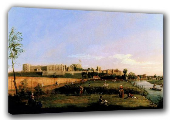 Canaletto: Windsor Castle. Fine Art Canvas. Sizes: A3/A2/A1 (003455)